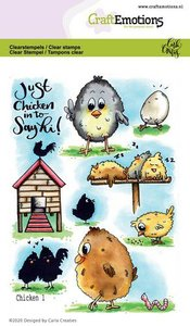 CraftEmotions clearstamps A6 - Chicken 1 Carla Creaties (01-20)