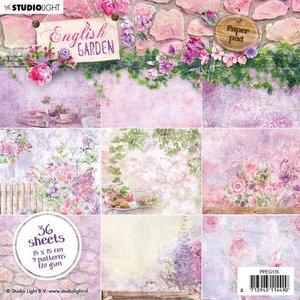 Studio Light Paper pad 36 vel English Garden nr.135 PPEG135 15x15cm (01-20)