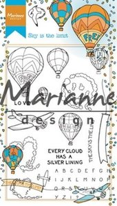 HT1634 - Marianne Design - Clear Stamps Hetty's Border Sky is the Limit