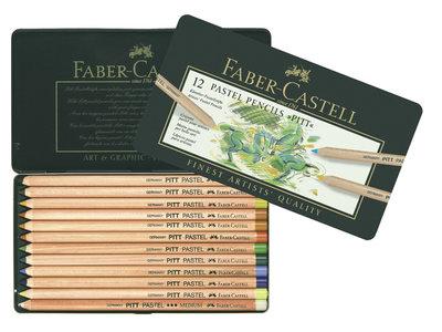 Faber Castell Pastelpotlood Pitt Metalen Etui a 12 Stuks (FC-112112)