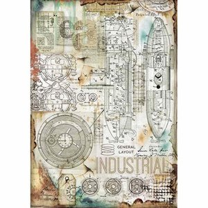Stamperia Rice Paper A4 Industrial (DFSA4433)