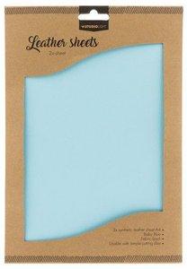 Studio Light kunstlederen vellen nr.08 - baby blue FLSSL08 2xA4
