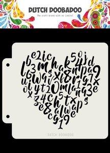 Dutch Doobadoo Dutch Mask Alfabet hart 163x148 470.715.153