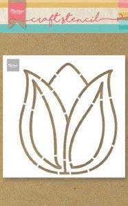 Marianne D Craft Stencil Tulp PS8060 149x149mm