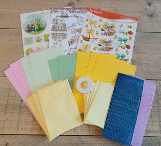 Kinderknutselpakket nr. 1 - Paaskaarten maken