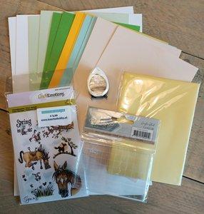 Kinderknutselpakket nr. 3 - Stempelkaarten Lente