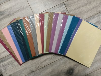 PAK011 - A4 - 20 pakjes a 10 vel - Glad/structuur gemengd - Assortiment kleuren