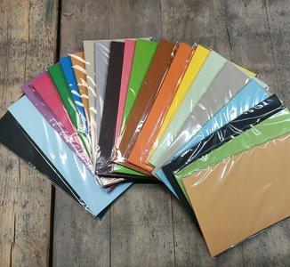PAK013 - Karton 13x26cm/13.5x27cm - 20 pakjes a 10 vel - Structuur - Assortiment kleuren