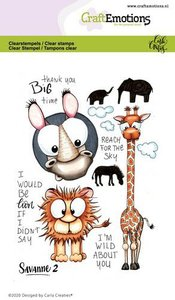 CraftEmotions clearstamps A6 - Savanne 2 Carla Creaties