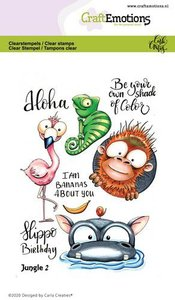 CraftEmotions clearstamps A6 - Jungle 2 Carla Creaties