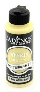 Cadence Hybride acrylverf (semi mat) Licht Geel 01 001 0007 0120  120 ml