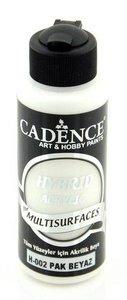 Cadence Hybride acrylverf (semi mat) Puur wit 01 001 0002 0120  120 ml