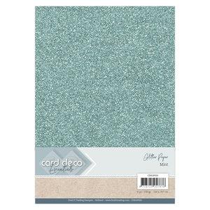 CDEGP020 Card Deco Essentials Glitter Paper Mint A4 230 grs 6 vel