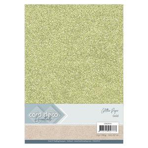 CDEGP010 Card Deco Essentials Glitter Paper Gold A4 230 grs 6 vel