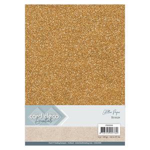 CDEGP009 Card Deco Essentials Glitter Paper Bronze A4 230 grs 6 vel