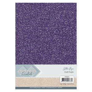 CDEGP001 Card Deco Essentials Glitter Paper Dark Purple A4 230 grs 6 vel