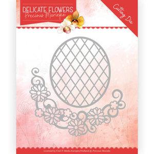 PM10181 Dies Precious Marieke Delicate Flowers Delicate Flower Oval 8,8x9,4cm
