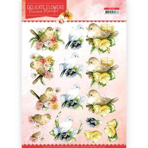 CD11491/HJ18301 3D Cutting sheet- Precious Marieke Delicate Flowers Birds