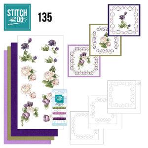 Stitch and Do 135 - Precious Marieke - Purple Flowers
