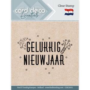 CDECS011 Card Deco Essentials - Clear Stamps - Gelukkig Nieuwjaar
