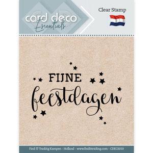 CDECS010 Card Deco Essentials - Clear Stamps - Fijne Feestdagen