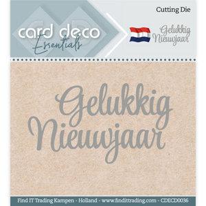 CDECD0036 Card Deco Essentials - Cutting Dies - Gelukkig Nieuwjaar