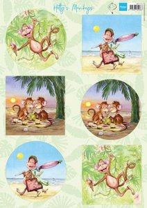 Marianne Design Knipvell Hetty's Monkeys HK1710 A4 6 designs