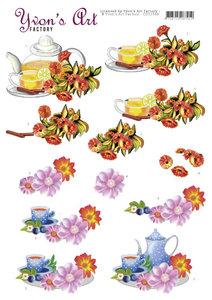 CD11548 3D Cutting Sheets - Yvon's Art - Teapot