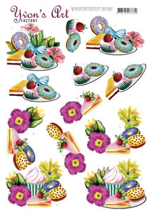 CD11545 3D Cutting Sheets - Yvon's Art - Donuts