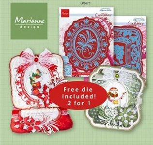 Marianne Design Creatable Anja's Creatable plus set LR0670 113x134mm (+ free die)