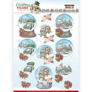 CD11542 HJ18501 3D cutting sheet Yvonne Creations Christmas Village Christmas Globes