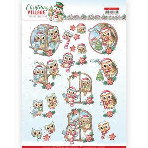 CD11541 3D cutting sheet Yvonne Creations Christmas Village Christmas Owls