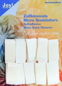 Joy! Crafts Zelfklevende Micro Snelsluiters 10x25mm 24st 6500/0090 10x25 mm (08-20)