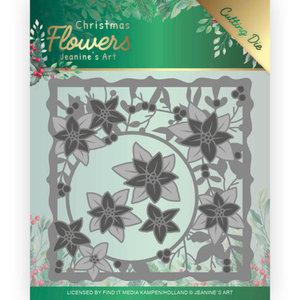 JAD10102 Dies Jeanines Art  Christmas Flowers Poinsettia Frame