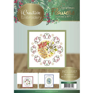 CB10017 Creative Embroidery 17 Jeanines Art  Christmas Flowers