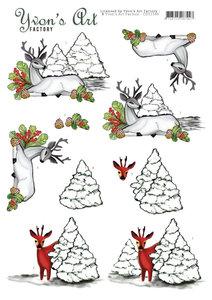 CD11549 3D Knipvel - Yvon's Art - Deer