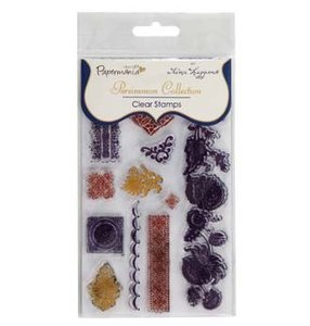 PMA 9073204 Papermania clear stamps - persimmon by tina higgins (1pk) flounce