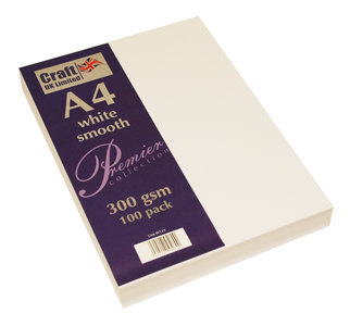 Craft UK Premium Collection A4 White Smooth Paper Pack (CUKW119)