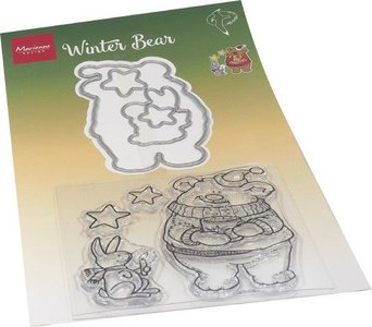 Marianne Design Clear Stamp & die set Hetty's Winter beer HT1659 120x205mm (11-20)