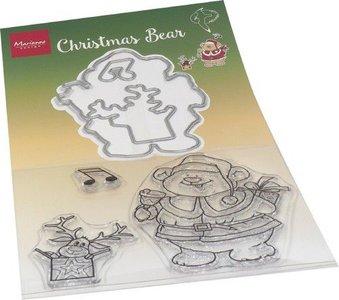 Marianne Design Clear Stamp & die set Hetty's Kerst beer HT1658 120x205mm (11-20)