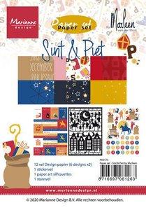Marianne Design Paper set Paper set - Sint & Pint (NL) PK9173 A5 (11-20)