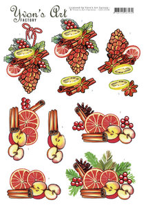 CD11554 3D Cutting Sheet - Yvon's Art - Christmas Fruit