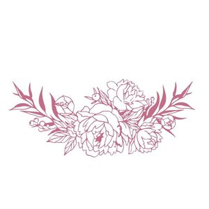 CO727399 Couture Creations Bouquet Border Mini Stamp 50x50mm