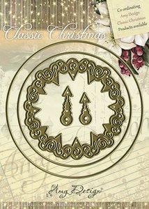 ADD10017 Die - Amy Design - Die - Classic Christmas - Clock - 9x7,5cm