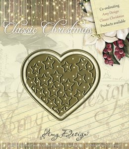 ADD10018 Die - Amy Design - Die - Classic Christmas - Star-filled heart 6x5.5cm