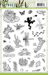 ADCS10072 Clear Stamps - Amy Design - Friendly Frogs