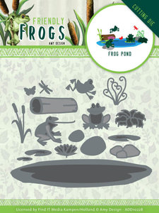 ADD10228 Dies - Amy Design - Friendly Frogs - Frog Pond