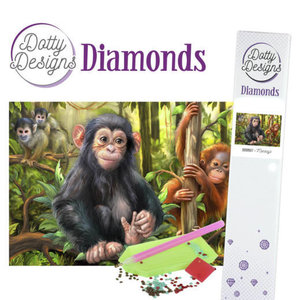 DDD1027 Dotty Designs Diamonds - Monkeys