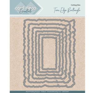 CDECD0097 Card Deco Essentials - Nesting Dies - Torn Edge Rectangle