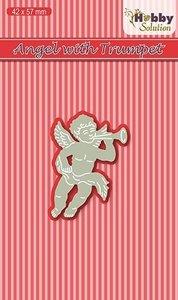 HSDJ013 Hobby Solutions Die Cut Angel with trumpet